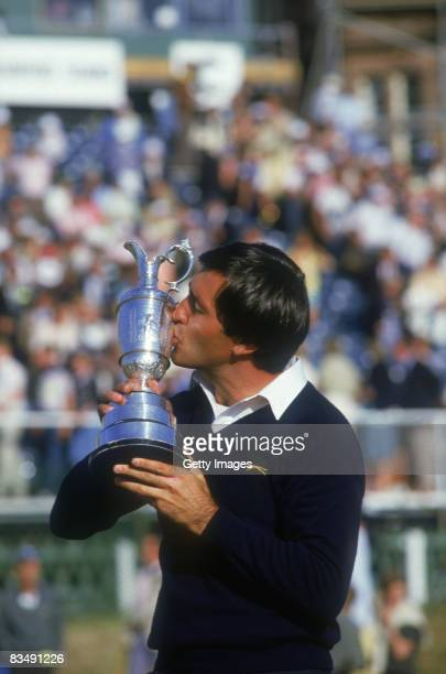 Spanish golfer Severiano Ballesteros wins the British Open at St Andrews, 21st July 1984.