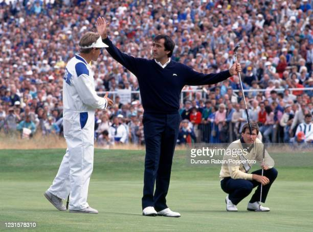 Spanish golfer Severiano Ballesteros wins The British Open Golf Championship at Royal Lytham St Annes golf course, England on 18 July, 1988. Nick...