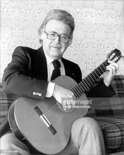 Spanish guitarist Alexander Lagoya at the New Chevron Hotel Kings Cross today March 20 1980