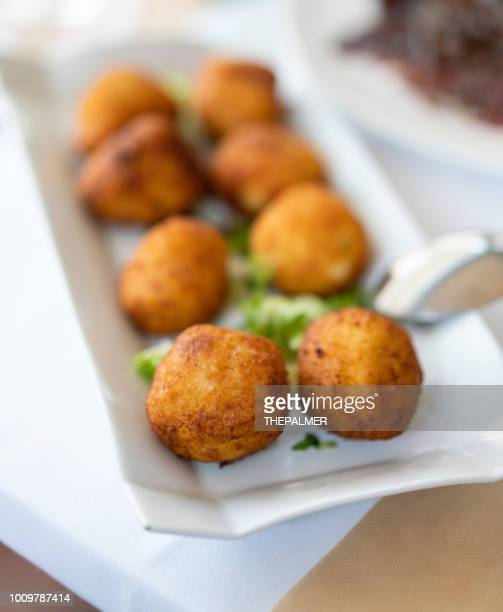 spanish ham croquetas - croquette stock photos and pictures