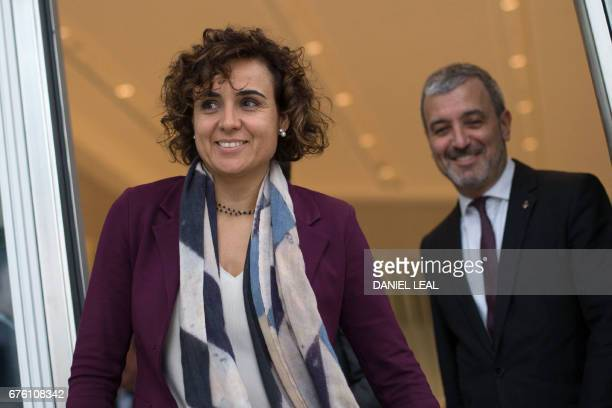 Spanish Health Secretary Dolors Montserrat and Member of Barcelona City Council Jaume Collboni leave the offices of the European Medicines Agency...