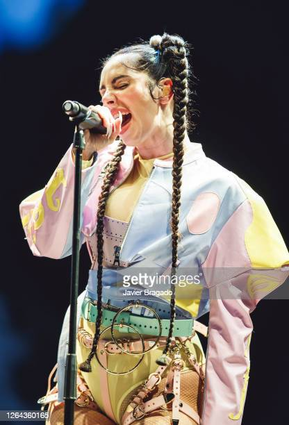 Spanish hip-hop singer La Mala Rodriguez performs on stage during Abre Madrid Festival 2020 at IFEMA on August 06, 2020 in Madrid, Spain.