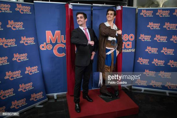 Spanish ice skater Javier Fernandez unveils his wax figure at the Wax Museum on December 12 2017 in Madrid Spain