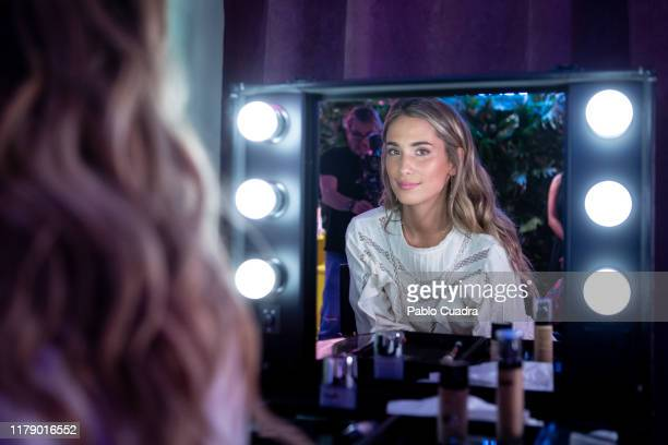 Spanish influencer Maria Pombo attends Douglas BEAUTYland at Circulo de Bellas Artes on October 04 2019 in Madrid Spain