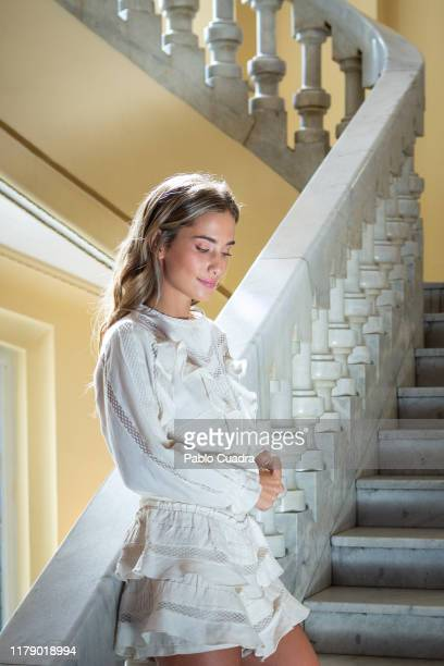Spanish Influencer Maria Pombo poses for a portrait session on October 04 2019 in Madrid Spain