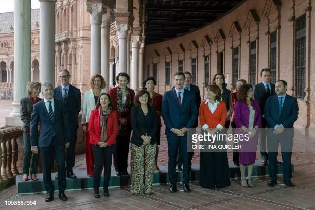 Spanish interior minister Fernando GrandeMarlaska Spanish minister of defence Margarita Robles Deputy Prime Minister and minister of equality Carmen...