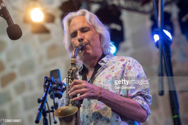 Spanish jazz saxophonist Perico Sambeat performs on stage with the Perico Sambeat Plays Zappa project during 55th edition of the Heineken Jazzaldia...