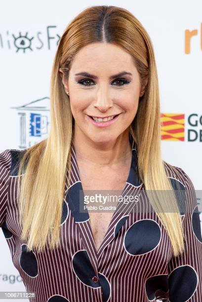 Spanish journalist Ainhoa Arbizu attends the Jose Maria Forque awards 2019 finalists announcement at Dore cinema on November 30 2018 in Madrid Spain