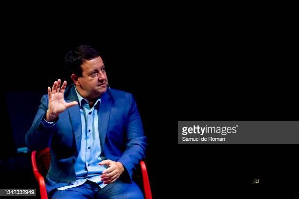 Spanish journalist Antoni Daimiel attends the International Sport Forum on September 24, 2021 in Leon, Spain.