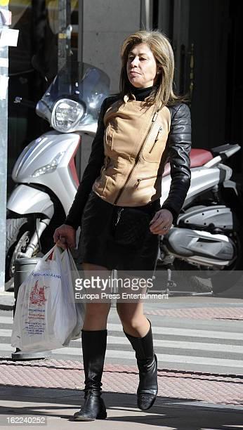 Spanish journalist Beatriz Perez Aranda is seen on February 7, 2013 in Madrid, Spain.