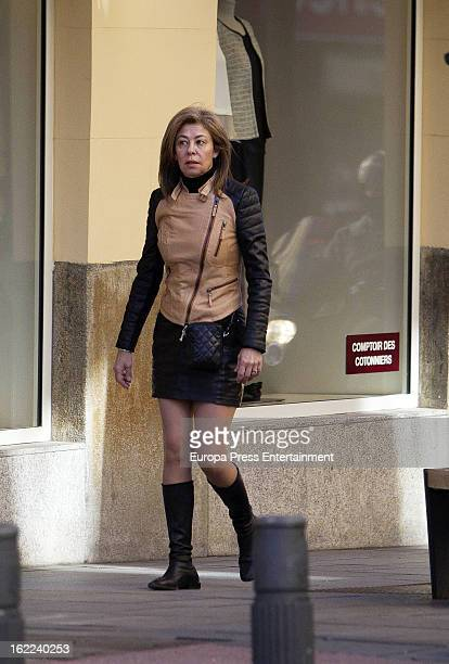 Spanish journalist Beatriz Perez Aranda is seen on February 7 2013 in Madrid Spain