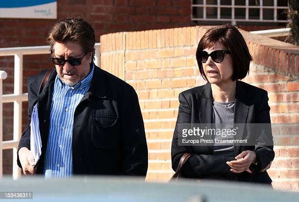 Spanish journalist Concha Garcia Campoy and Andres Vicente Gomez are seen leaving hospital on September 13 2012 in Madrid Spain Campoy is recovering...