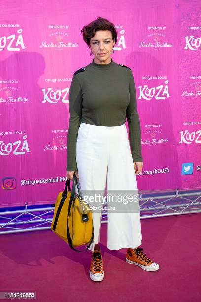 Spanish journalist Cristina Villanueva attends the Cirque Du Soleil 'Kooza' premiere on October 29 2019 in Madrid Spain