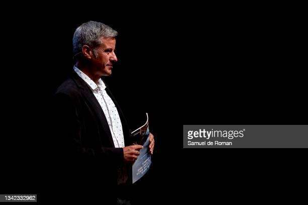 Spanish journalist Nico Abad attends the International Sport Forum on September 24, 2021 in Leon, Spain.