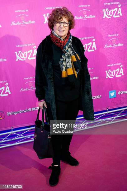 Spanish journalist Rosa Villacastin attends the Cirque Du Soleil 'Kooza' premiere on October 29 2019 in Madrid Spain