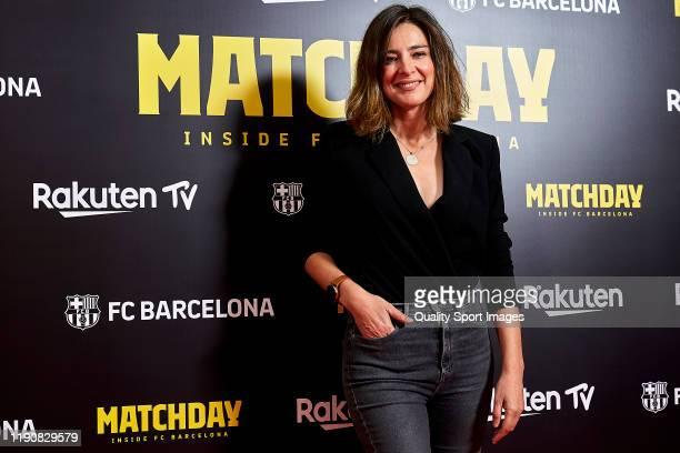 Spanish journalist Sandra Barneda attending to the premiere of Matchday - Inside FC Barcelona at Teatre del Liceu on November 28, 2019 in Barcelona,...