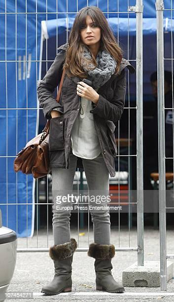 Spanish journalist Sara Carbonero is seen sighting on December 9 2010 in Madrid Spain