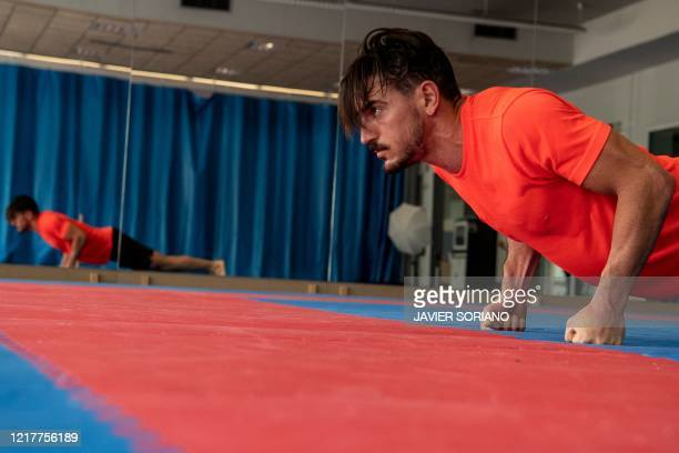 Spanish karate athlete Damian Quintero, world champion in Karate Kata and qualified for the Olympics 2021, trains at the Center of High Performance...