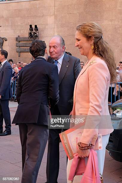 Spanish King Juan Carlos Froilan Marichalar y Borbon and Elena de Borbon attend a Beneficencia bullfight during the San Isidro Feria at Las Ventas...