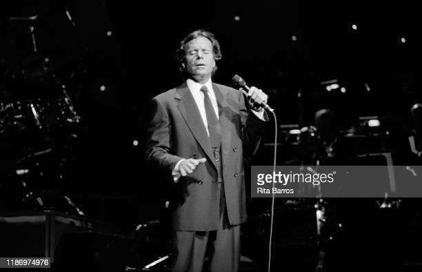 Spanish Latin and Pop singer Julio Iglesias performs onstage at Radio City Music Hall New York New York May 20 1988