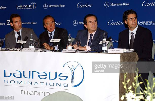 Spanish Laureus Director Igancio Diaz World Sports Academy member Hugo Porta Spanish Sports Secretary Affairs Juan Antonio Gomez Angulo and World...
