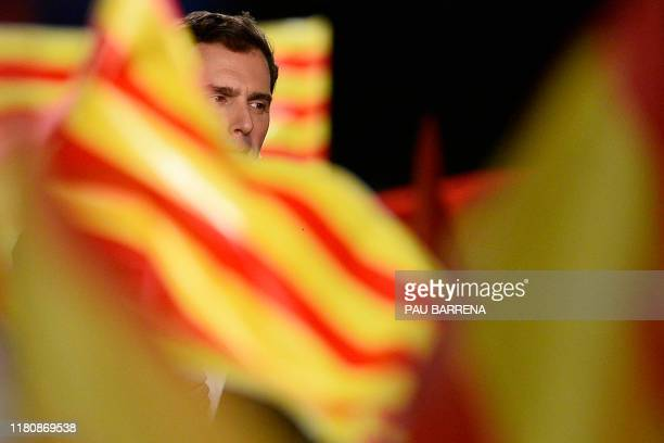 Spanish liberal Ciudadanos party leader and candidate for prime minister Albert Rivera delivers a speech during their last campaign rally in...