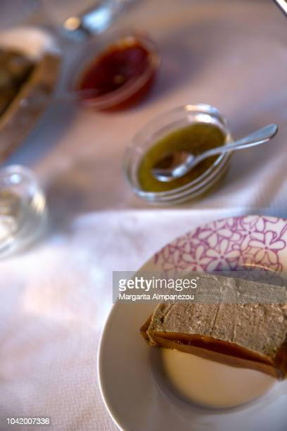Spanish Local Meal: Chicken pate with green tomato jam