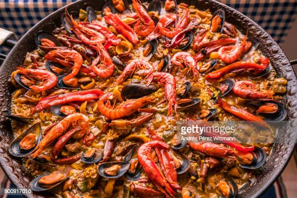 spanish local meals - valencia spain stock pictures, royalty-free photos & images