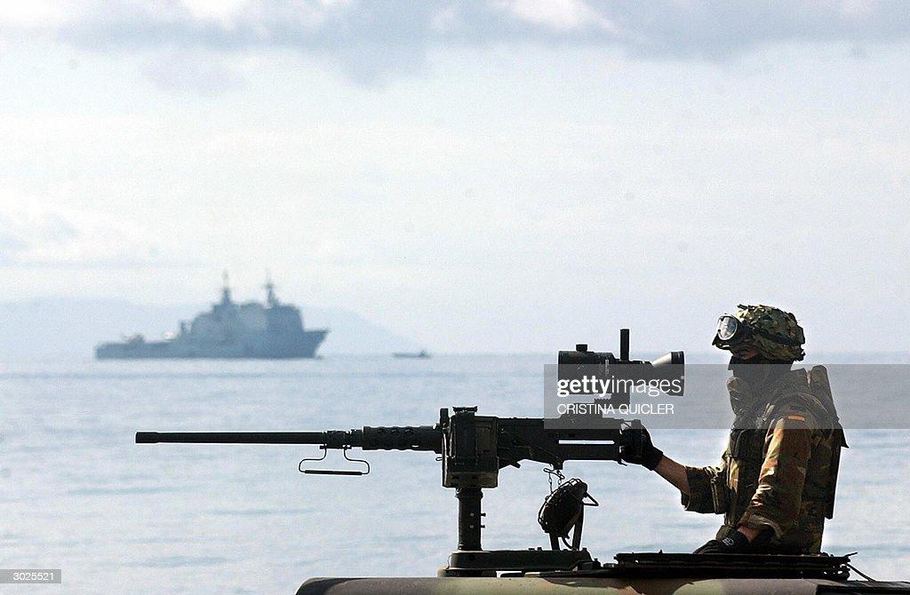 Spanish marines of the NATO Response For : News Photo