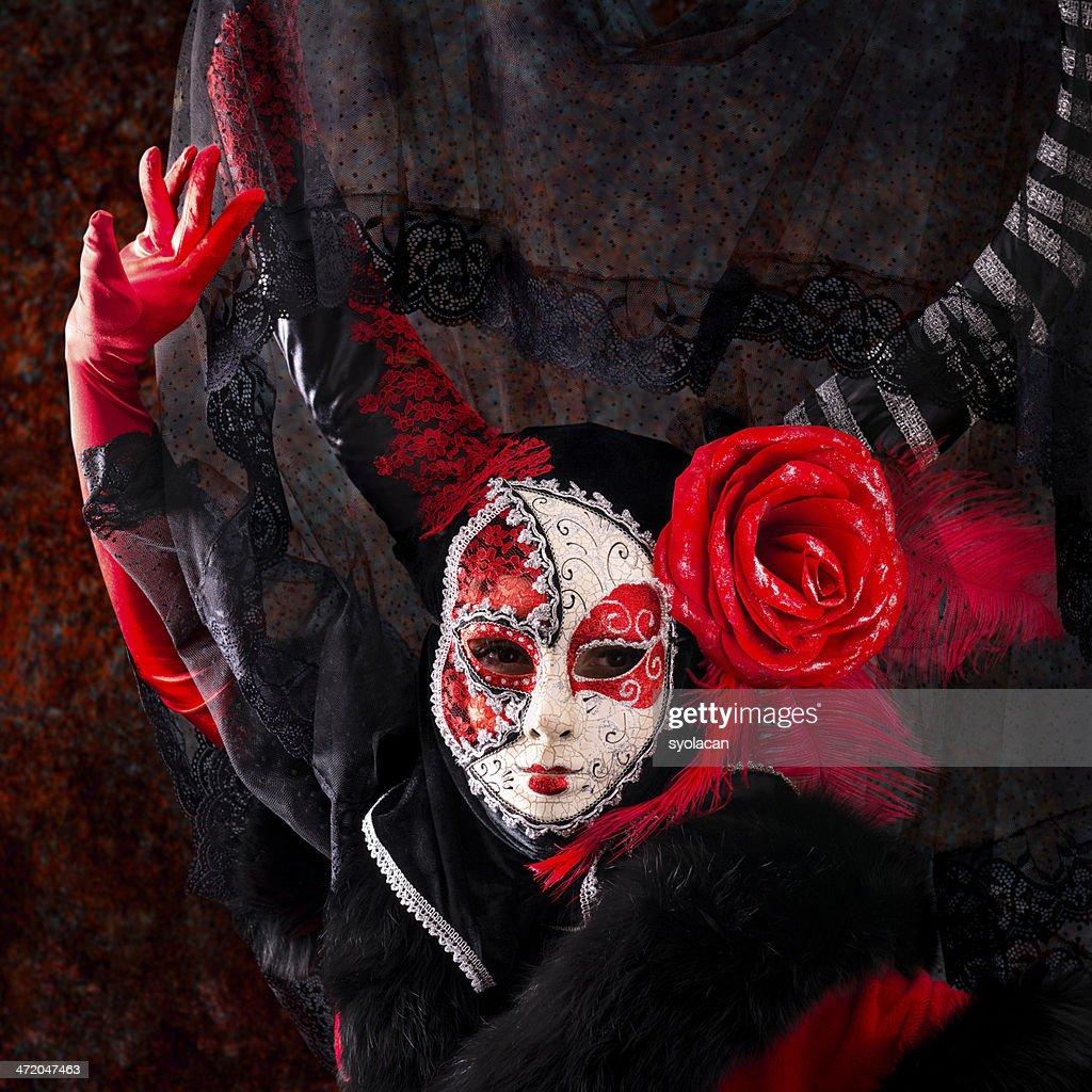 Spanish Masked Woman : Stock Photo