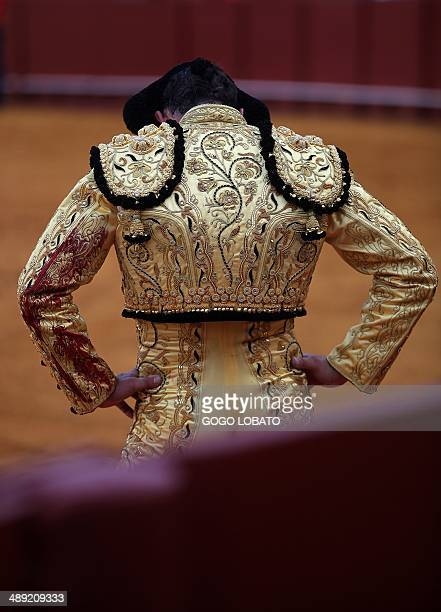 Spanish matador David Fandilla 'El Fandi' stands in the Maestranza bullring during a bullfight in Sevilla on May 10 2014 AFP PHOTO / GOGO LOBATO