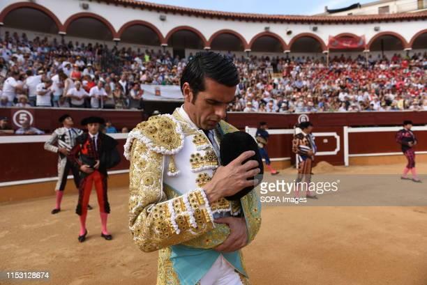 Spanish matador Emilio de Justo at the La Chata bullring before a bullfight Festival in Soria