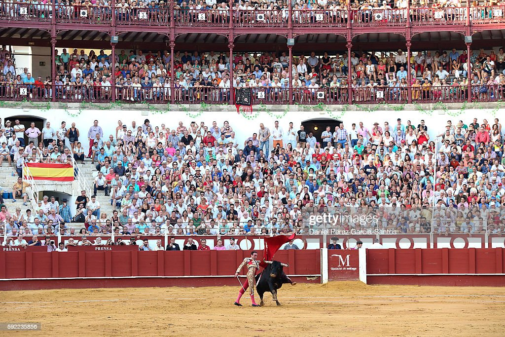 Spanish matador Enrique Ponce during the Malagueta bullring on August 19, 2016 in Malaga, Spain.