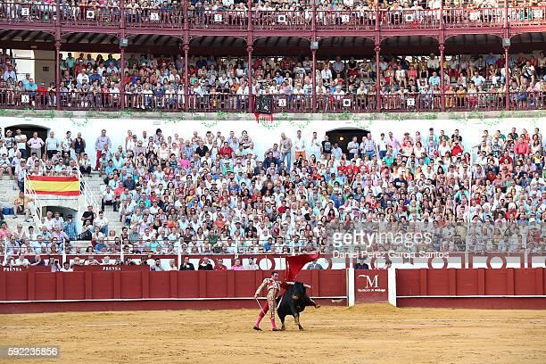 Spanish matador Enrique Ponce during the Malagueta bullring on August 19 2016 in Malaga Spain