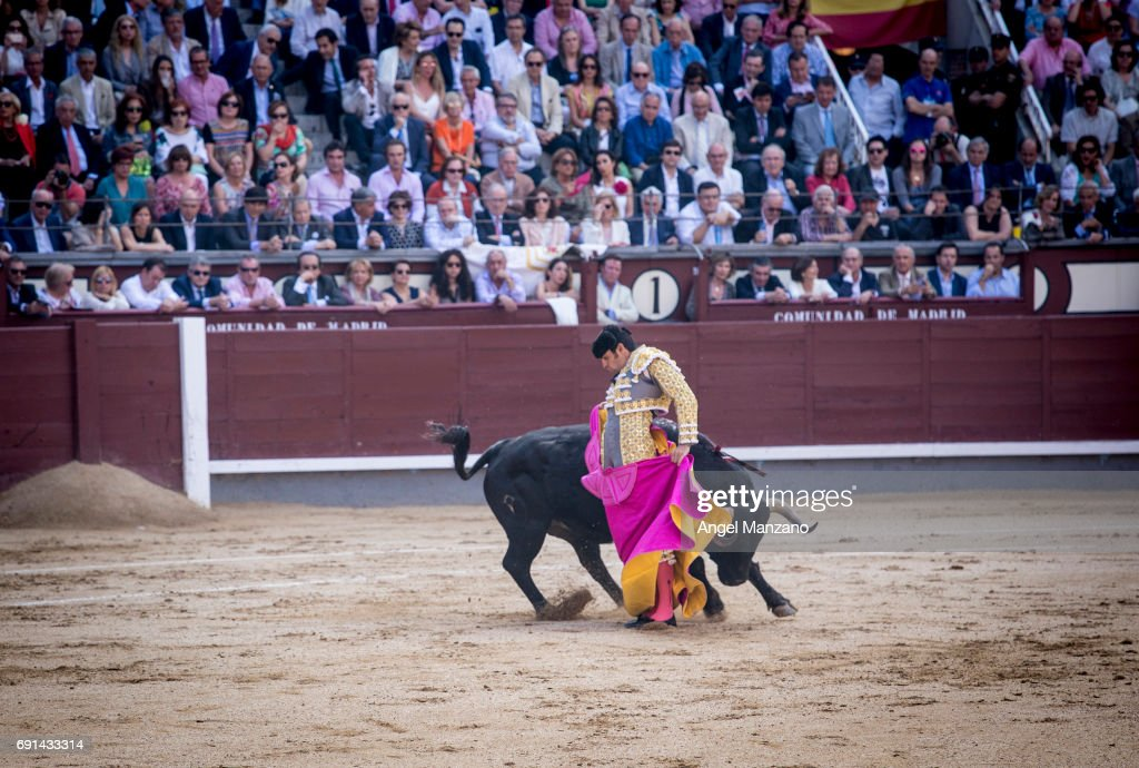 Celebrities Attend Bullfights in Madrid