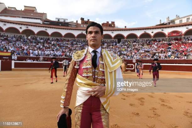 Spanish matador Pablo Aguado at the La Chata bullring before a bullfight Festival in Soria
