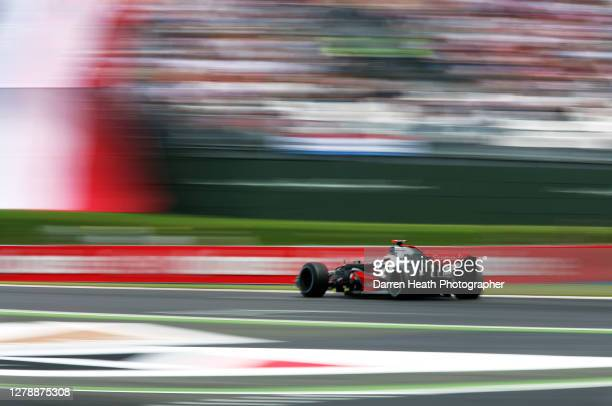 Spanish McLaren Formula One driver Fernando Alonso in his McLaren MP4-22 car during the 2007 French Grand Prix held at the Magny Cours Circuit on the...