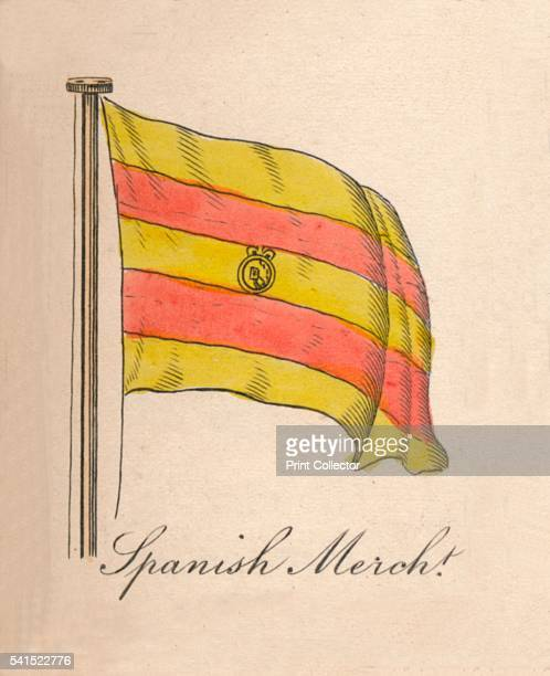 Spanish Merchant' 1838 From A Display of the Naval Flags of All Nations Collected from the Best Authorities [Fisher Son Co London 1838] Artist Unknown