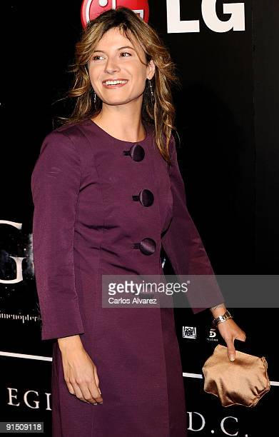 Spanish Minister Bibana Aido attends 'Agora' premiere at Kinepolis Cinema on October 6 2009 in Madrid Spain
