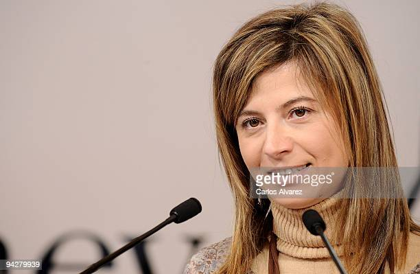 Spanish Minister Bibana Aido attends 'The Journey' opening exhibition at Retiro Park on December 11 2009 in Madrid Spain