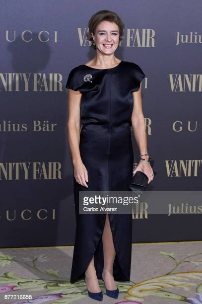 Spanish Minister of Agriculture Isabel Garcia Tejerina attends the Vanity Fair Personality of the Year party at the Ritz Hotel on November 21 2017 in...