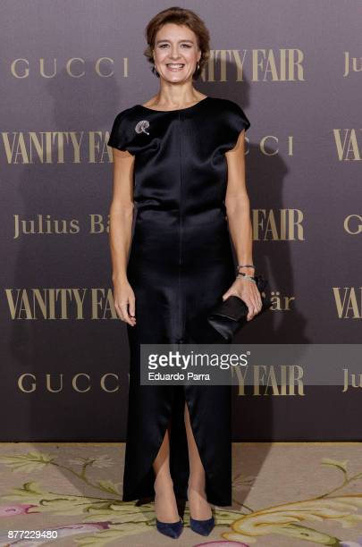 Spanish Minister of Agriculture Isabel Garcia Tejerina attends the 'Vanity Fair Personality of the year' photocall at Ritz hotel on November 21 2017...