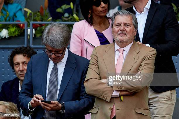 Spanish Minister of Education and Sports Inigo Mendez de Vigo attends day nine of the Mutua Madrid Open tennis tournament at the Caja Magica on May...