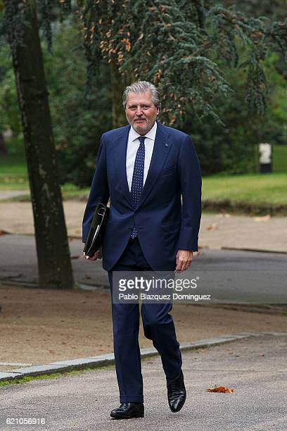 Spanish Minister of Education Culture and Sport and Spokesman Inigo Mendez de Vigo arrives to the prensentation of Rajoy's new Government at Moncloa...