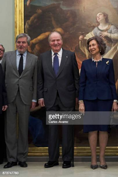 Spanish Minister of Education Culture and Sports and Government spokesperson Inigo Mendez de Vigo King Juan Carlos and Queen Sofia deliver the Medal...