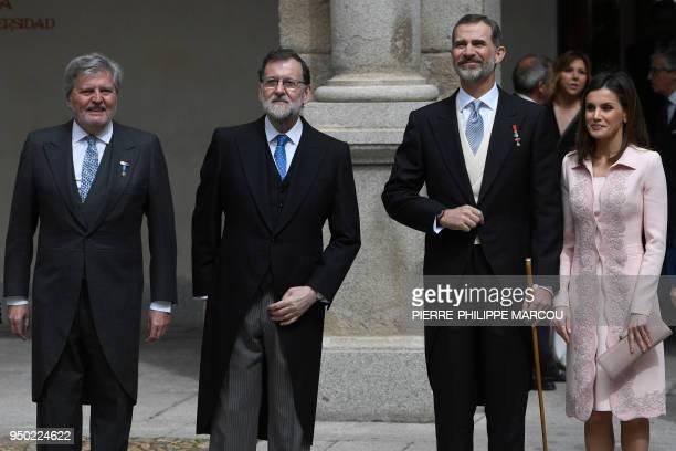 Spanish Minister of Education Culture and Sports and Government spokesperson Inigo Mendez de Vigo Spanish Prime Minister Mariano Rajoy King Felipe VI...