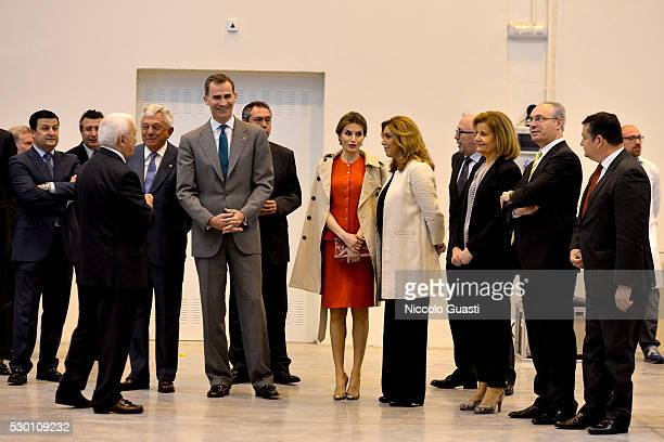 Spanish minister of employment and Social Security Fatima Baez President of the regional Government of Andalucia Susana Diaz Queen Letizia King...