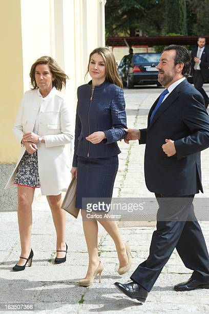 Spanish Minister of Health Social services and Equality Ana Mato Princess Letizia of Spain and ONCE President Miguel Carballeda attend 'Discapnet...