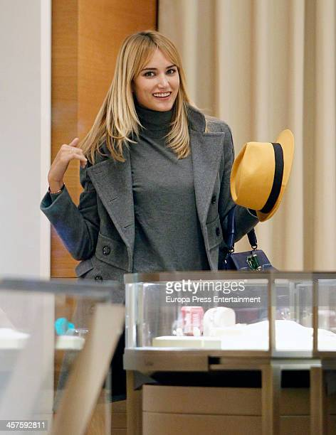 Spanish model Alba Carrillo is seen Christmas shopping on December 17 2013 in Madrid Spain