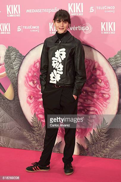 Spanish model Alba Galocha attends 'Kiki El Amor Se Hace' premiere at the Capitol premiere on March 30 2016 in Madrid Spain